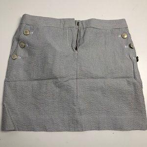 J. Crew Gray Striped Skirt Size 2 Women's